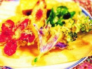 Hana tempura atau tempura bunga yang lezat