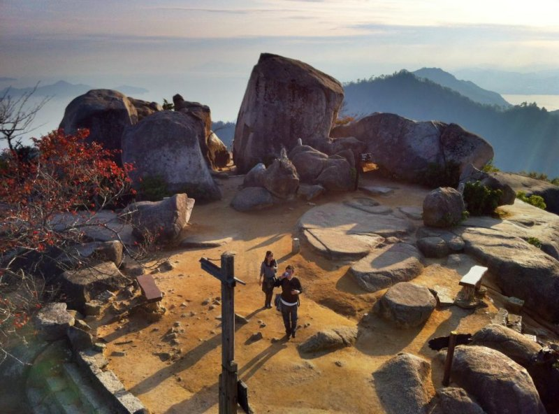 The view from the top of Mt. Misen on Miyajima Island is sublime
