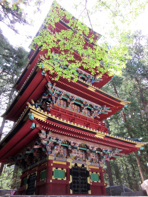 Bright pagoda greets you at the very entrance