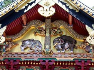 Painted carvings