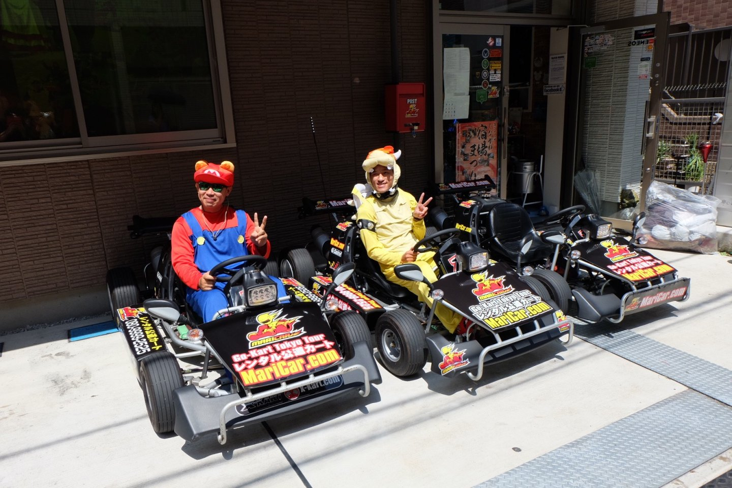 Rent your go-kart with your costume and drive on the street.