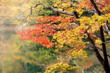 Juniko Lakes in autumn.