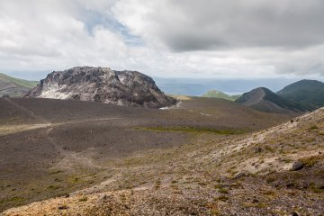 The caldera and lava dome
