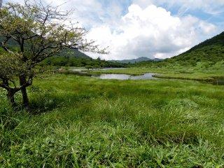 Vista da extremidade do lago