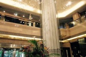 The enchanting lobby at the Hotel Metropolitan Sendai