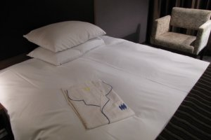 Enjoy the loungewear provided in the rooms