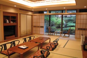 The luxurious Japanese style room