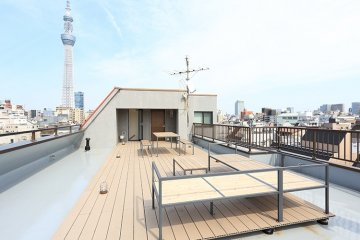 The rooftop area