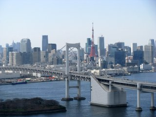 The view of Tokyo from Nihon TV building