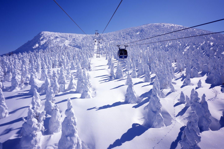 I mostri di neve dalla funivia Zao