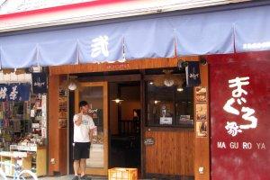 Rất nhiều quán monja ở Tsukishima.
