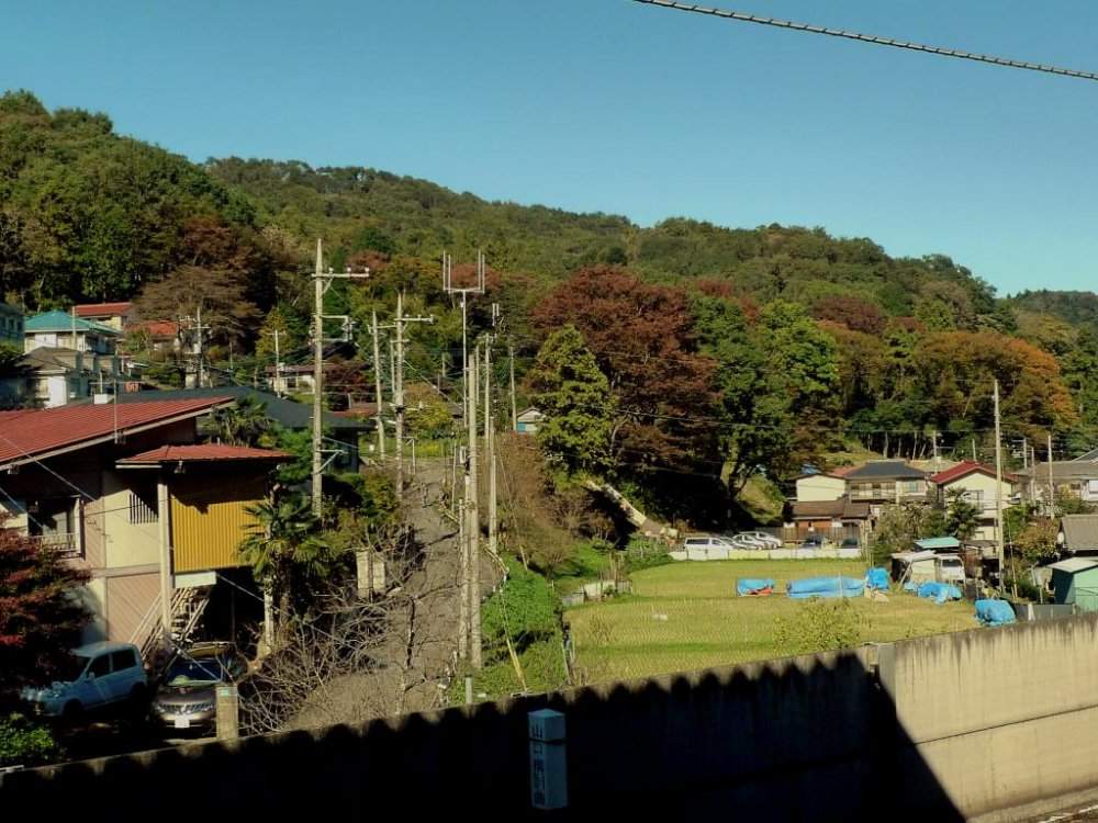 View from the Takaosanguchi station