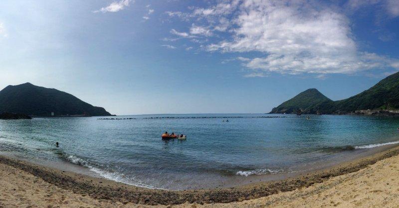 วิวริมฝั่งทะเลอันงดงาม
