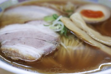 Char siu pork with the Niboshi Ramen