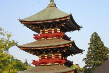 Пагода на закате