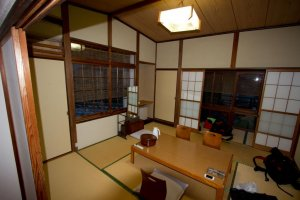 Our half of the tatami room