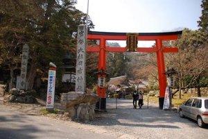 Le torii de Hiyoshi Taisha