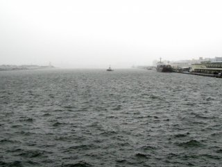 From the waterfront, the weather didn't appeal to me