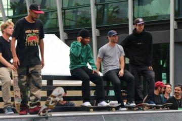 The Adidas Pro Skateboarders team