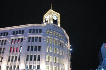 Wako Department Store With Christmas Lighting