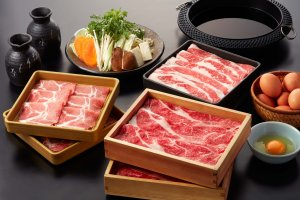 The sukiyaki course