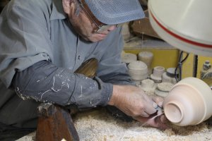 An experienced craftsman at work