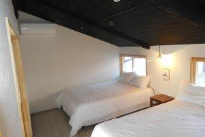 Large well lit bedroom