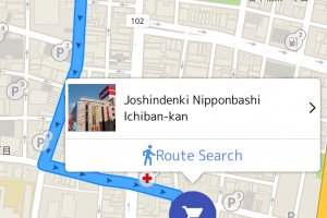 The coupon app's map function helps you find the store or business you're looking for.