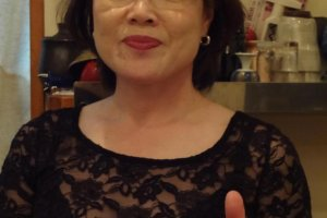 Tatsufuku's Mama-san, Tatsuko Hasegawa, will make you feel most welcome!