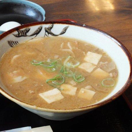 Steaming Tonjiru Soup in Odawara