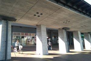 Trần nhà ga Kochi được thiết kế hình cá voi