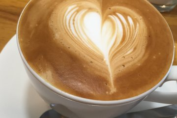 No matter if it's cappuccino, latte or espresso, coffee is delicious at Cafe Wakakusa