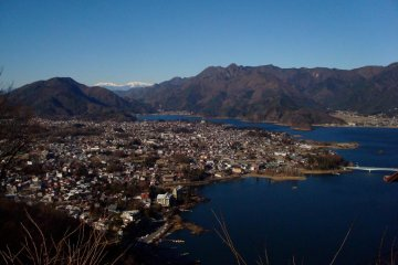 Lake Kawaguchiko seen from Mount Shimo