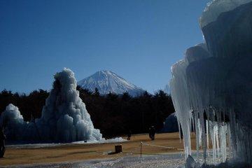 Mori Park Ice sculptures at Lake Saiko Bird Sanctuary