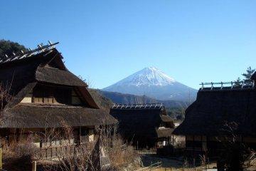 Iyashi no Sato, a traditional village on the western shores of Lake Saiko