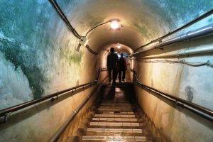 Walk the hand dug tunnels of World War 2