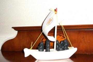 The 7 Lucky Gods in Their Boat