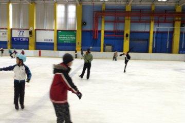 Ice Skating in Sendai