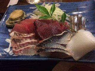 Delectable sashimi.