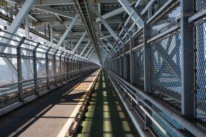 Innoshima Bridge was opened in 1983 and has beautiful geometric patterns