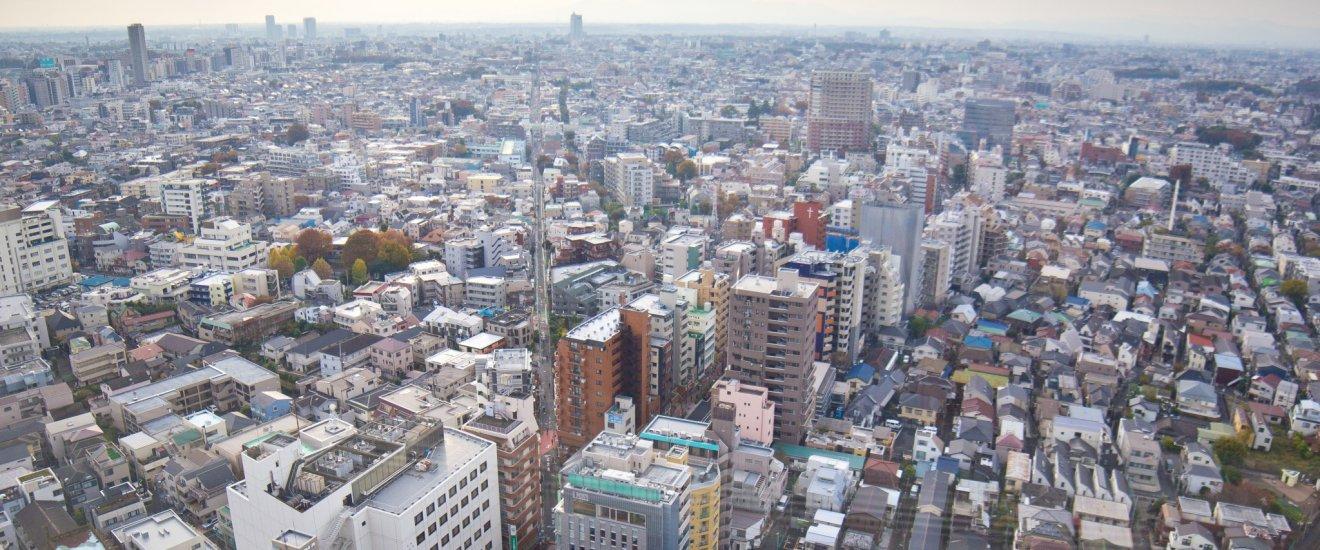 Pemandangan kota Tokyo dari Carrot Tower