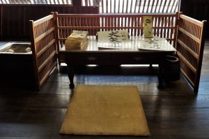 Where merchants once sat and did business inside the Kunimori Residence