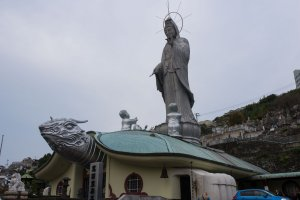 The Goddess of Kannon towering over the area