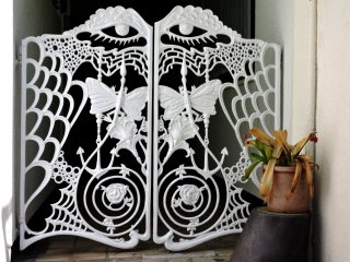 Lacy butterfly gates