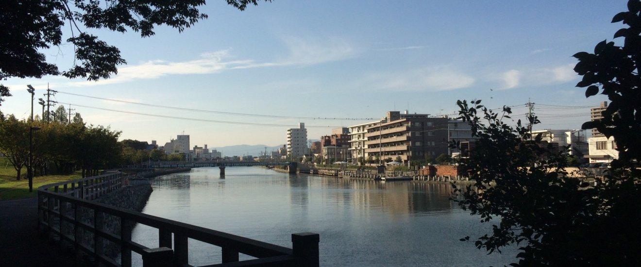 View of Tokushima near Tokushima Castle.