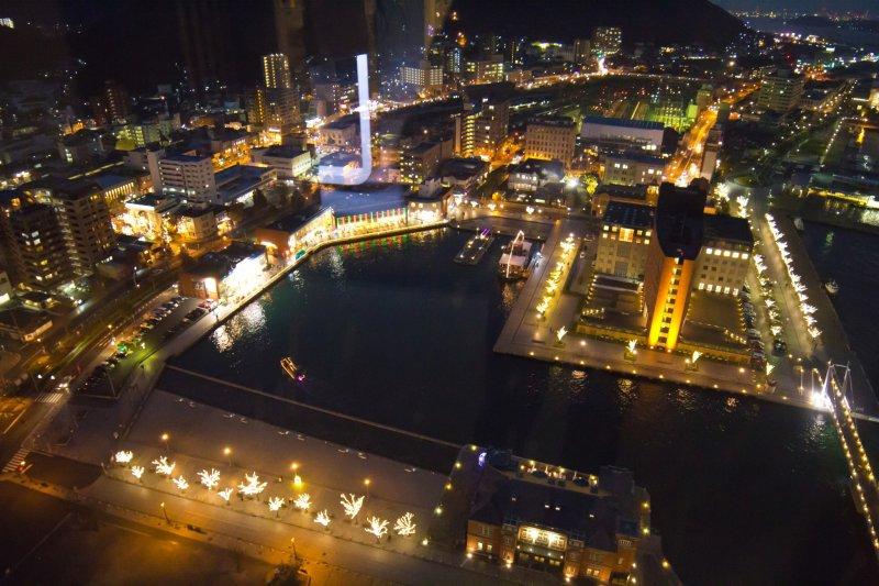 The stunning view of the Mojiko Retro area and Kaikyo Plaza