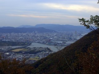 East Takamatsu at dusk from the top of the trail