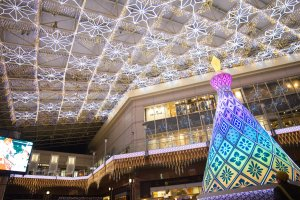 The Christmas tree of light would change into beautiful colours
