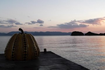 <p>Sunset at the yellow pumpkin</p>