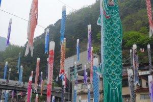 งานเทศกาลค่อยโนะโบะริที่เมืองซึตเอะทะเตะ ออนเซ็น